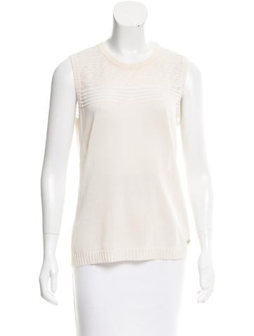 Salvatore Ferragamo Sleeveless Knit Top None