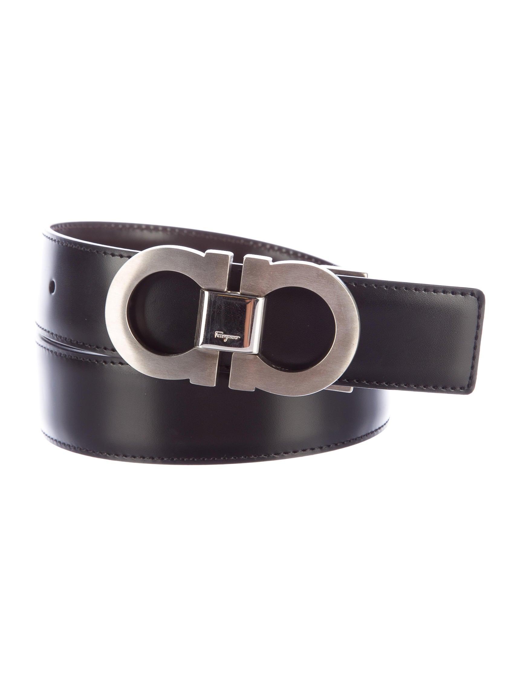salvatore ferragamo gancio reversible leather belt w tags