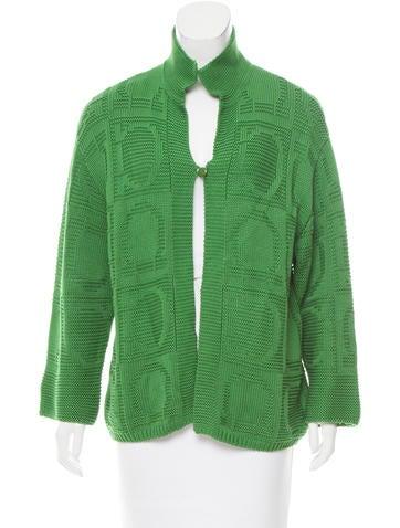Salvatore Ferragamo Lightweight Knit Cardigan - Clothing ...
