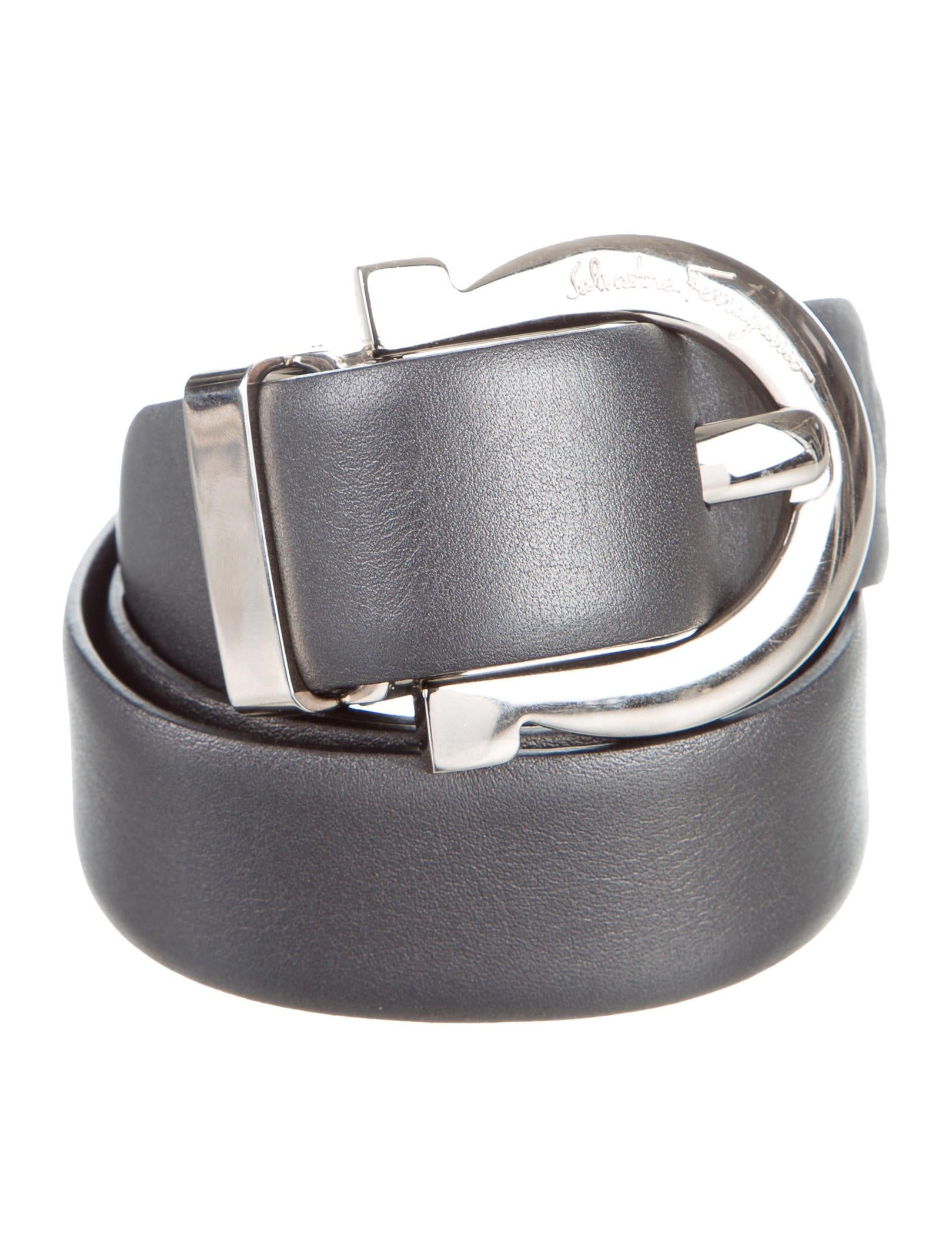 salvatore ferragamo metallic leather belt accessories