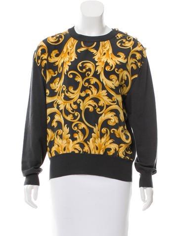 Salvatore Ferragamo Abstract Print Wool Sweater None
