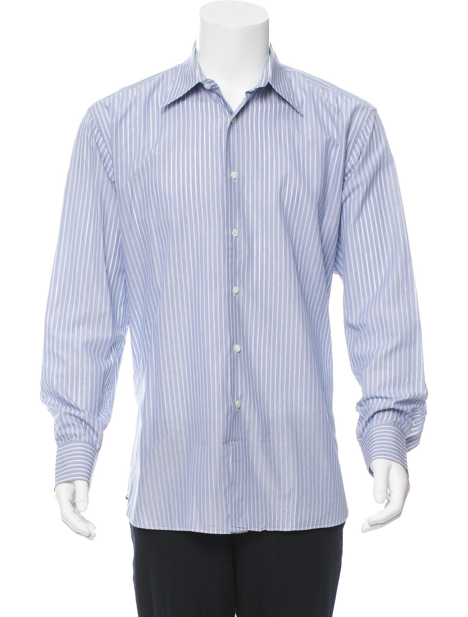 Salvatore Ferragamo Striped Button Up Shirt Clothing
