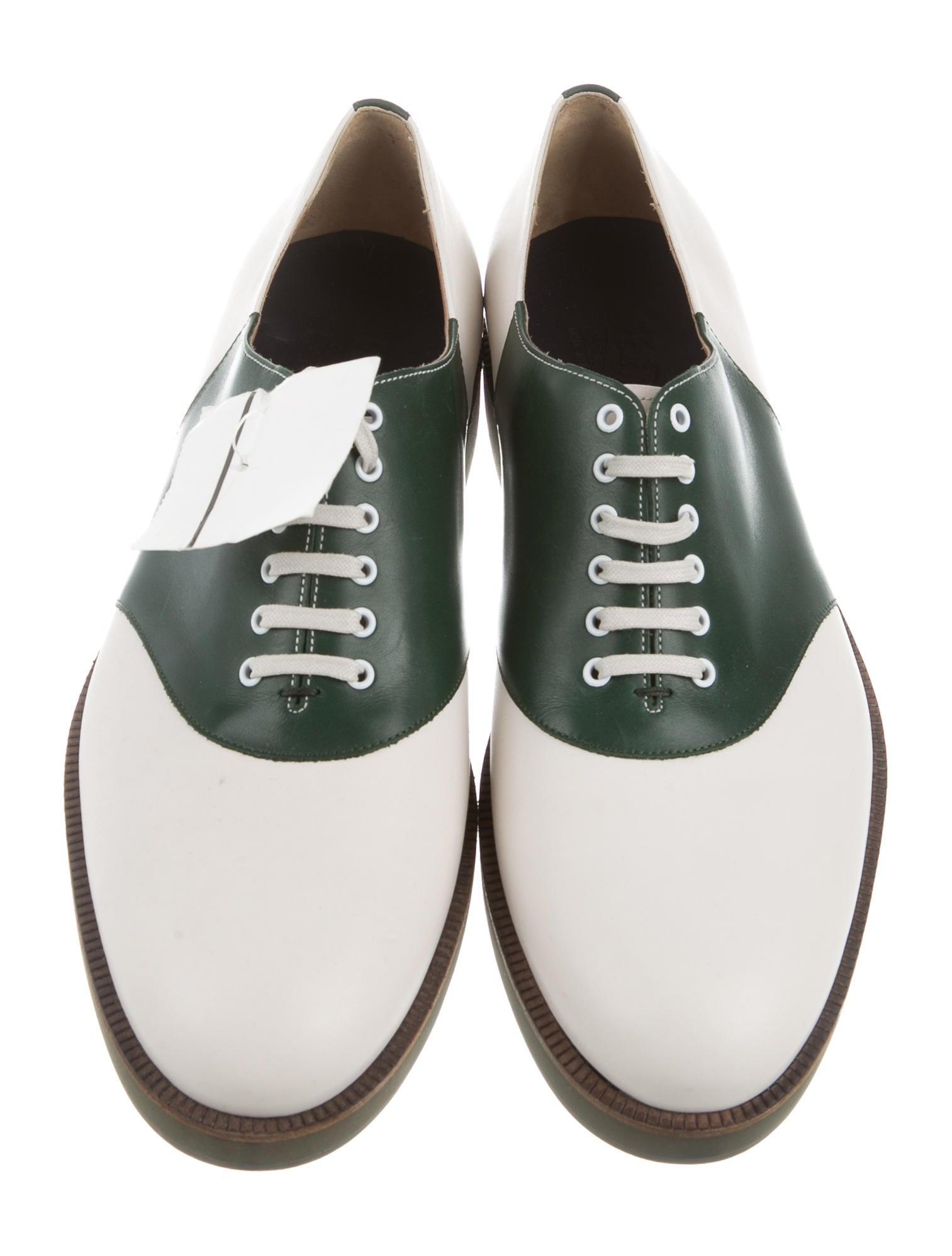 salvatore ferragamo two tone leather derby shoes shoes