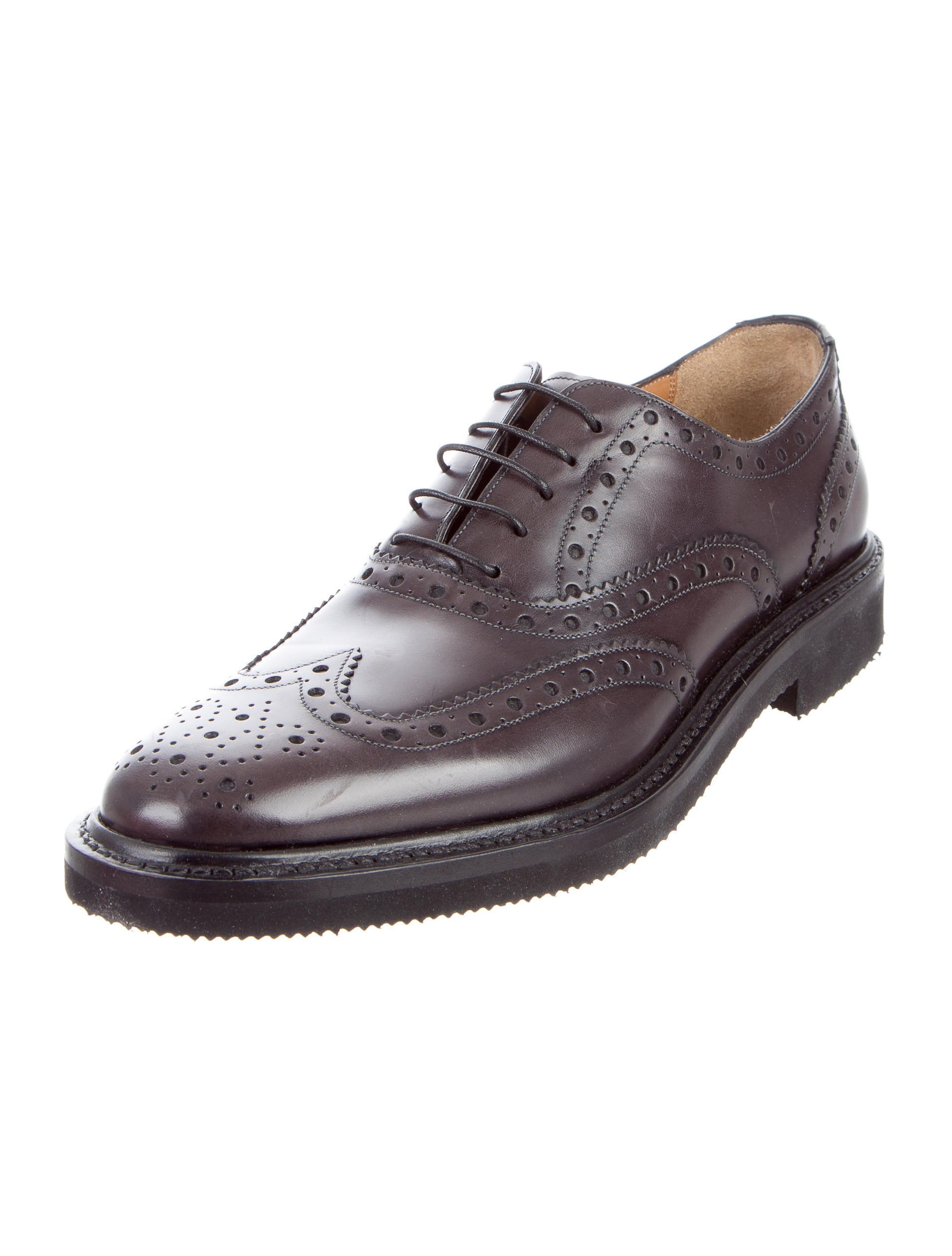 Salvatore Ferragamo Leather Wingtip Brogues