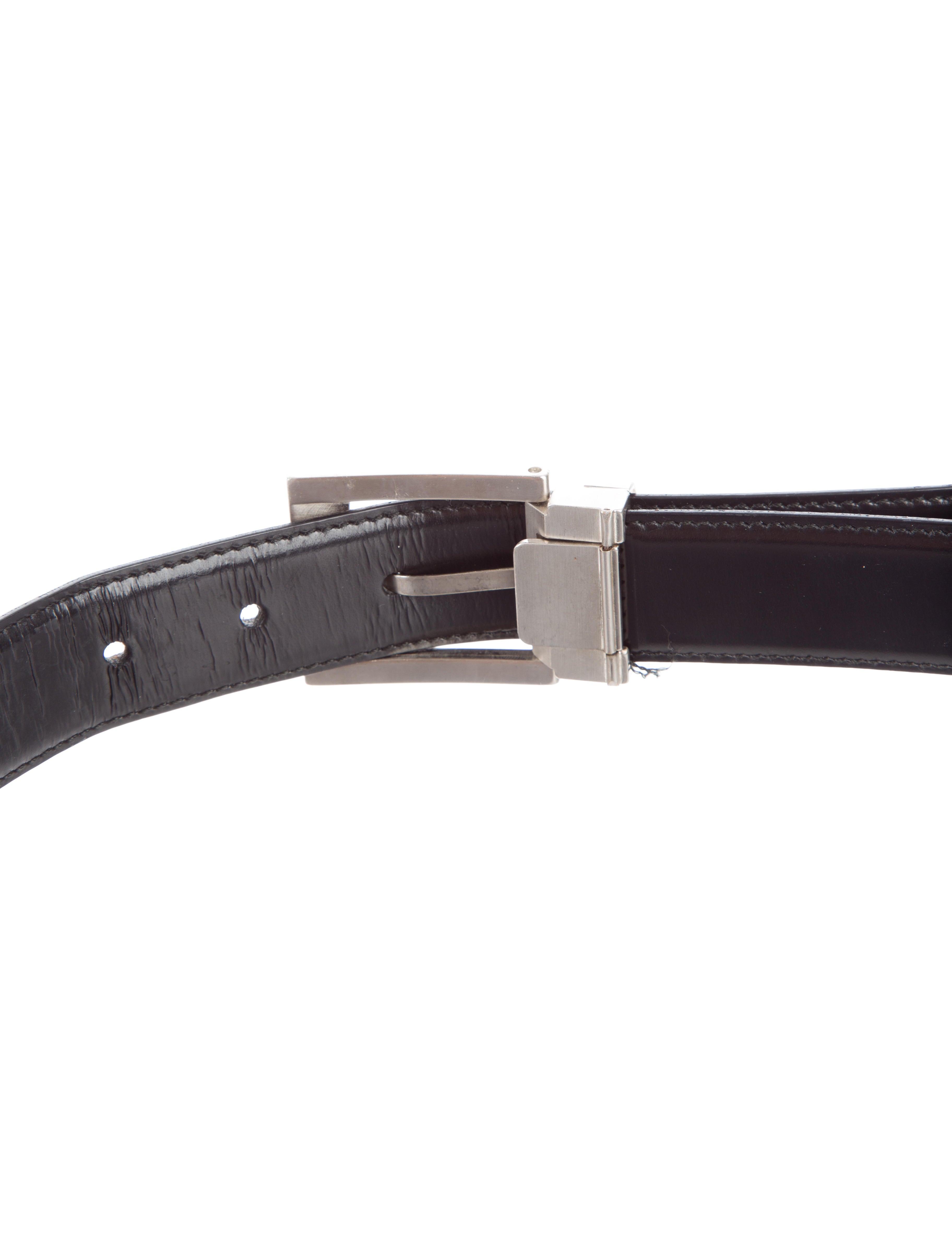 salvatore ferragamo reversible leather belt accessories