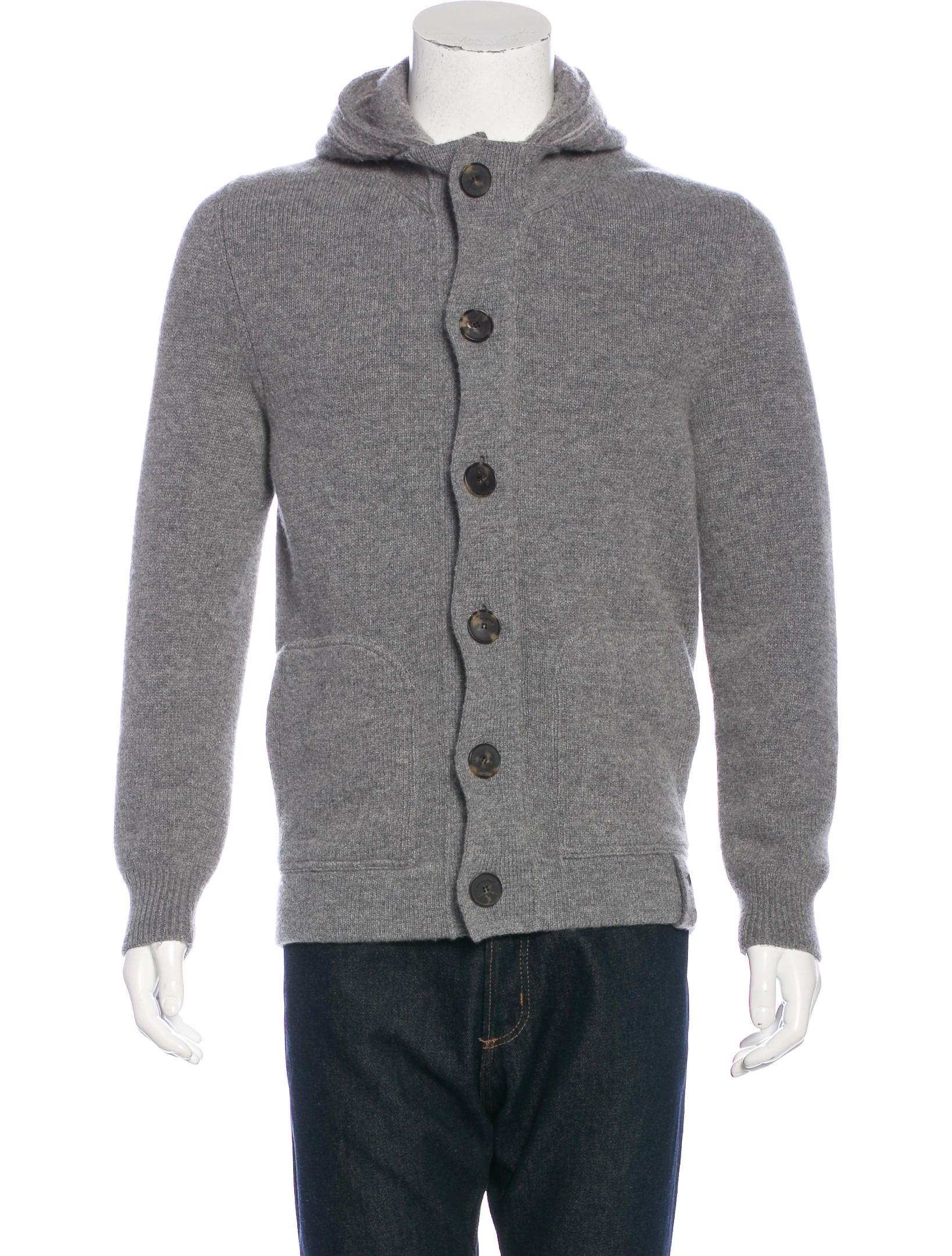 Salvatore Ferragamo Hooded Wool Cardigan - Clothing - SAL47364 ...