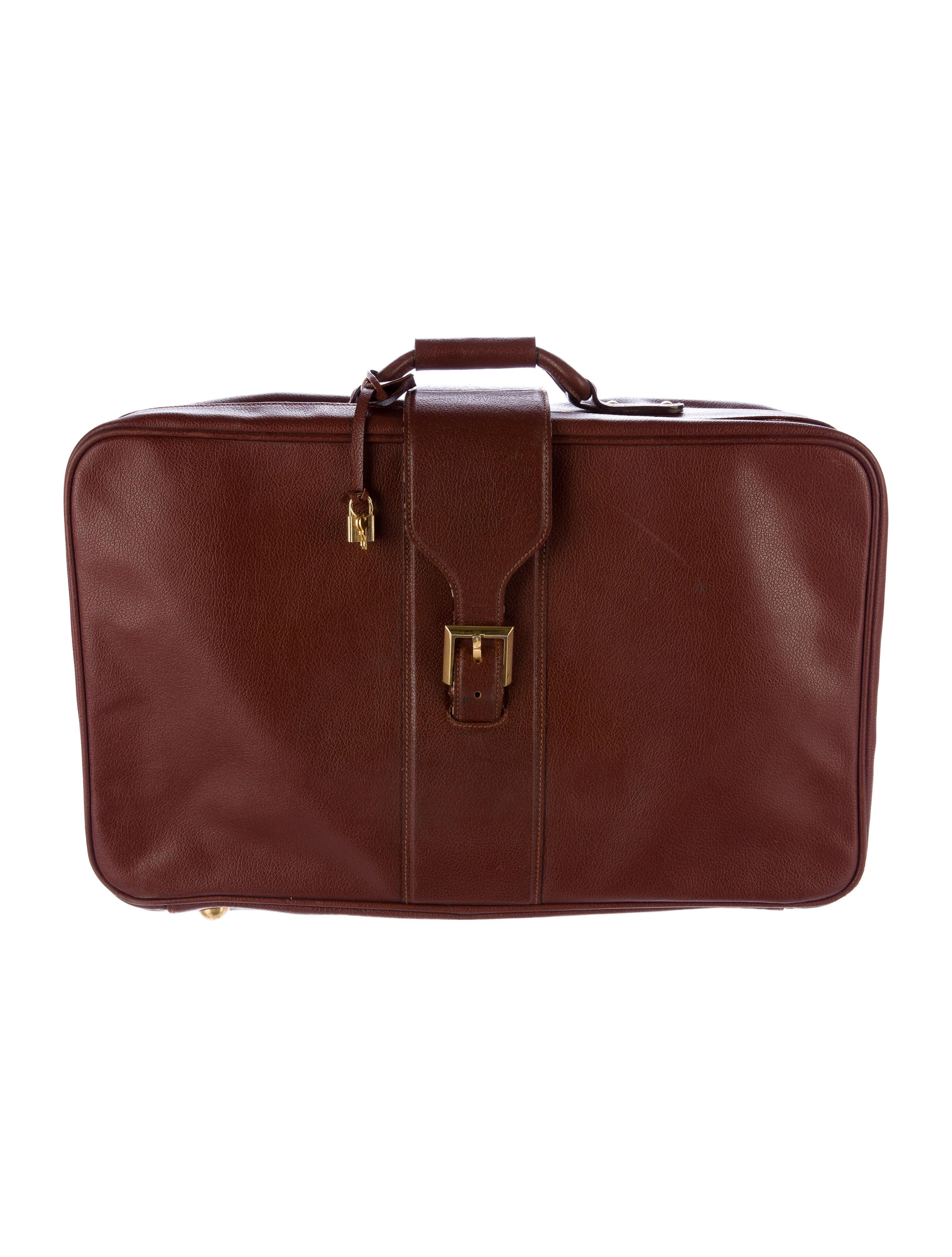 6c197b08e4 Salvatore Ferragamo Leather Travel Suitcase - Luggage - SAL48238 ...