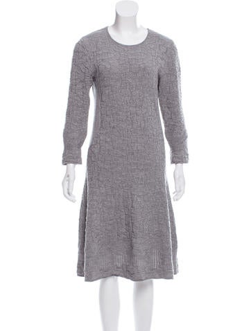 Salvatore Ferragamo Virgin Wool Knit Dress - Clothing - SAL48852 The RealReal