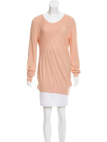 Salvatore Ferragamo Textured Scoop Neck Sweater None