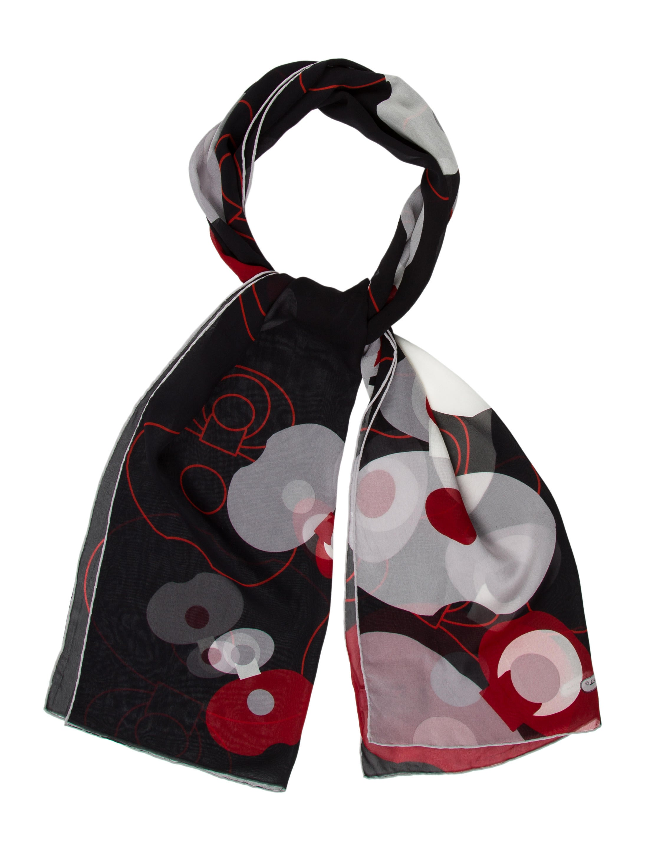 salvatore ferragamo printed silk scarf accessories
