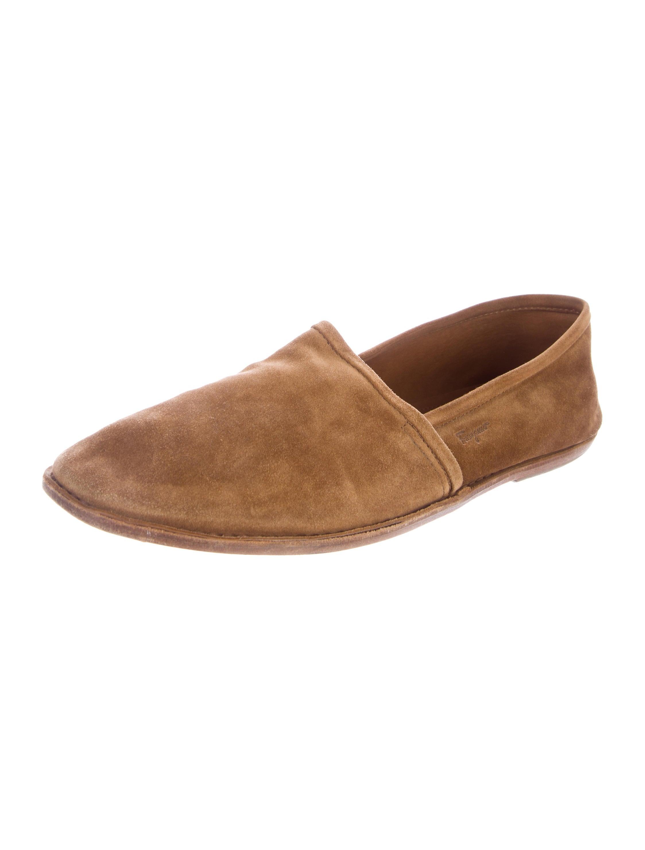salvatore ferragamo suede slip on shoes shoes sal49746