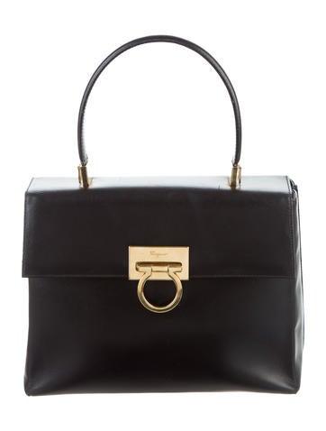Salvatore Ferragamo Top Handle Kelly Bag None