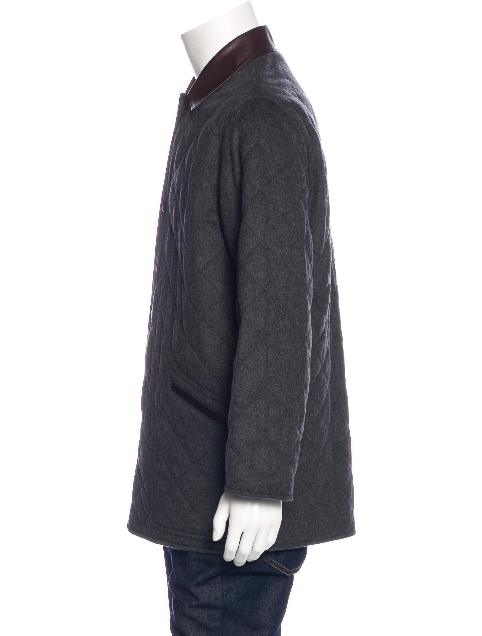 Salvatore Ferragamo Quilted Wool Coat Clothing