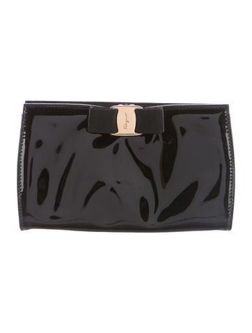 Salvatore Ferragamo Patent Leather Clutch None