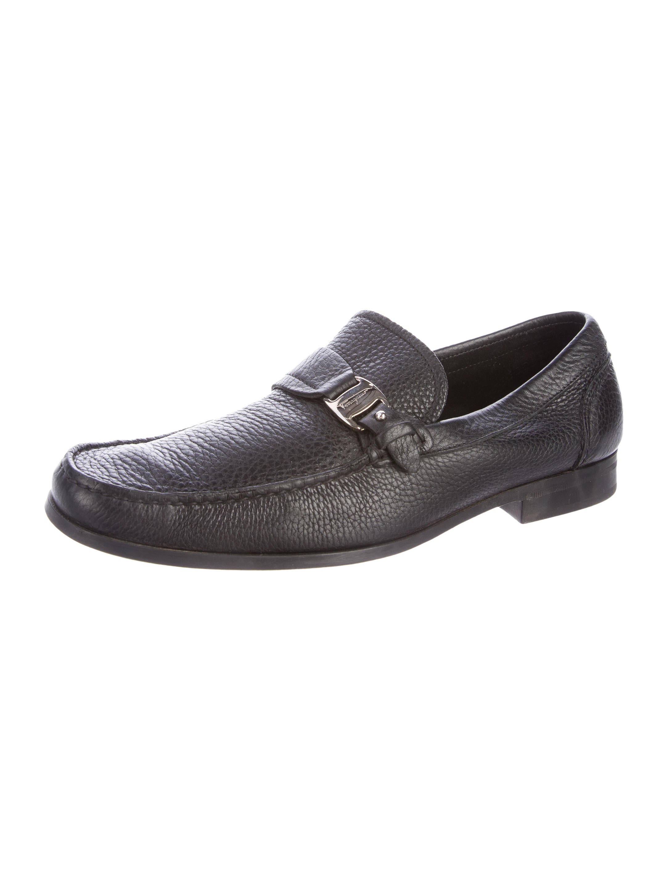 salvatore ferragamo leather dress loafers shoes