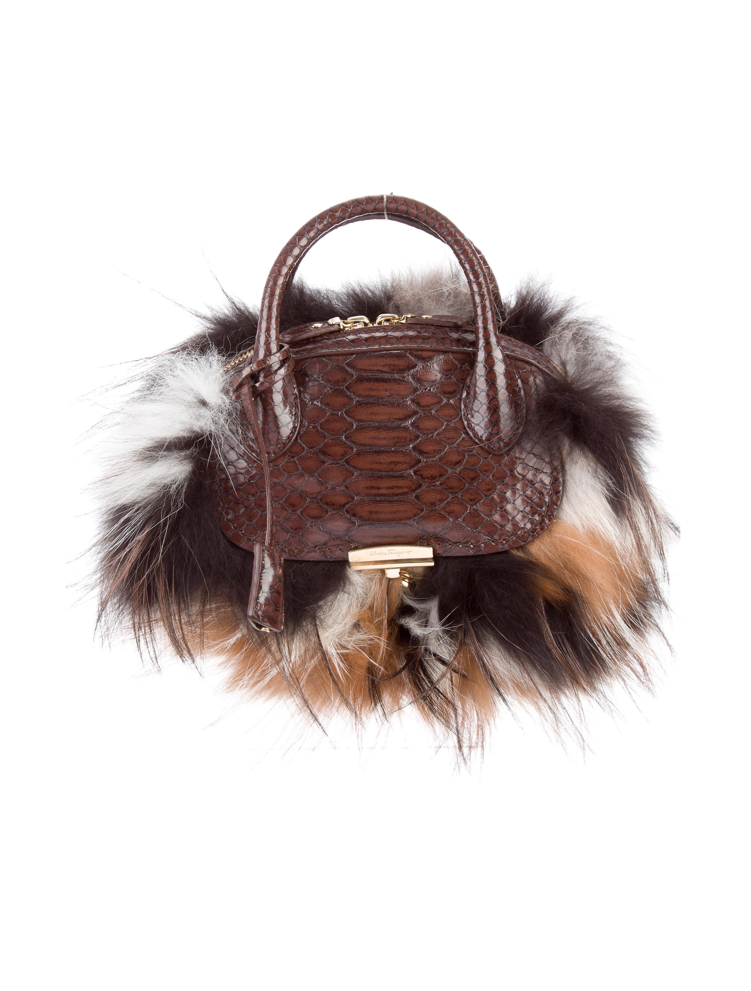 102322b11333 Salvatore Ferragamo Python   Fox Mini Fiamma Bag w  Tags - Handbags ...
