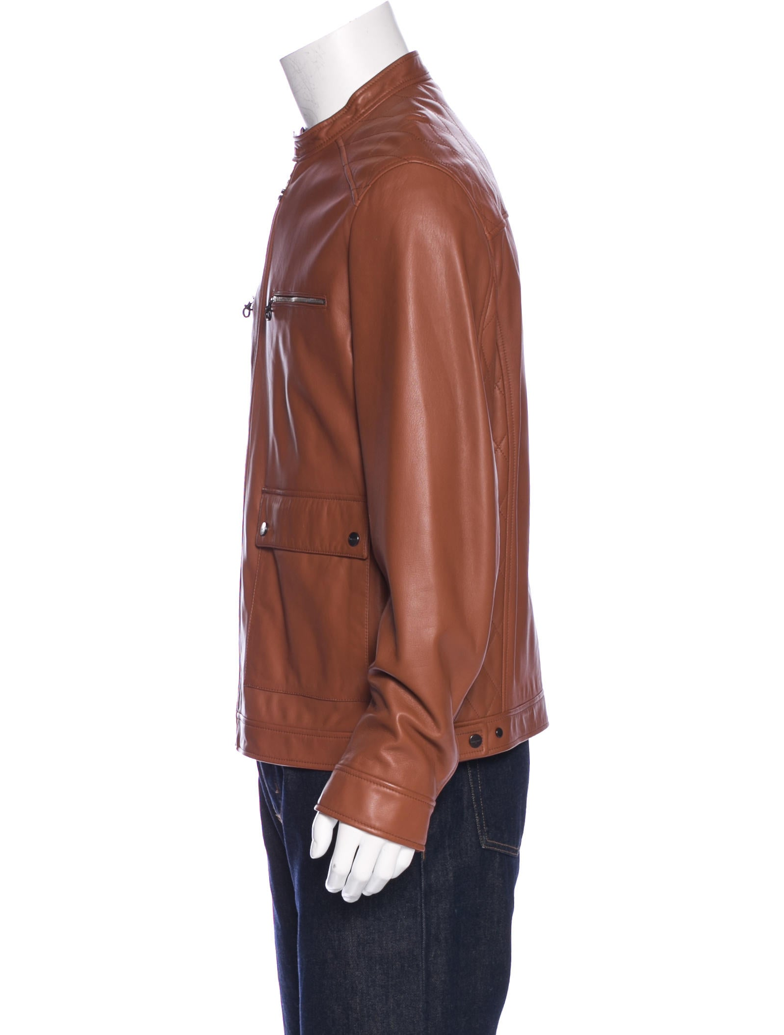 Salvatore Ferragamo Quilted Leather Jacket Clothing
