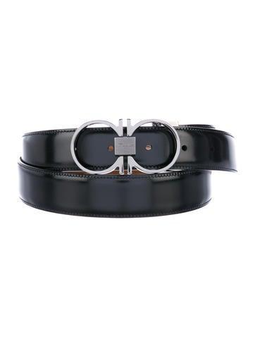 salvatore ferragamo gancini reversible leather belt