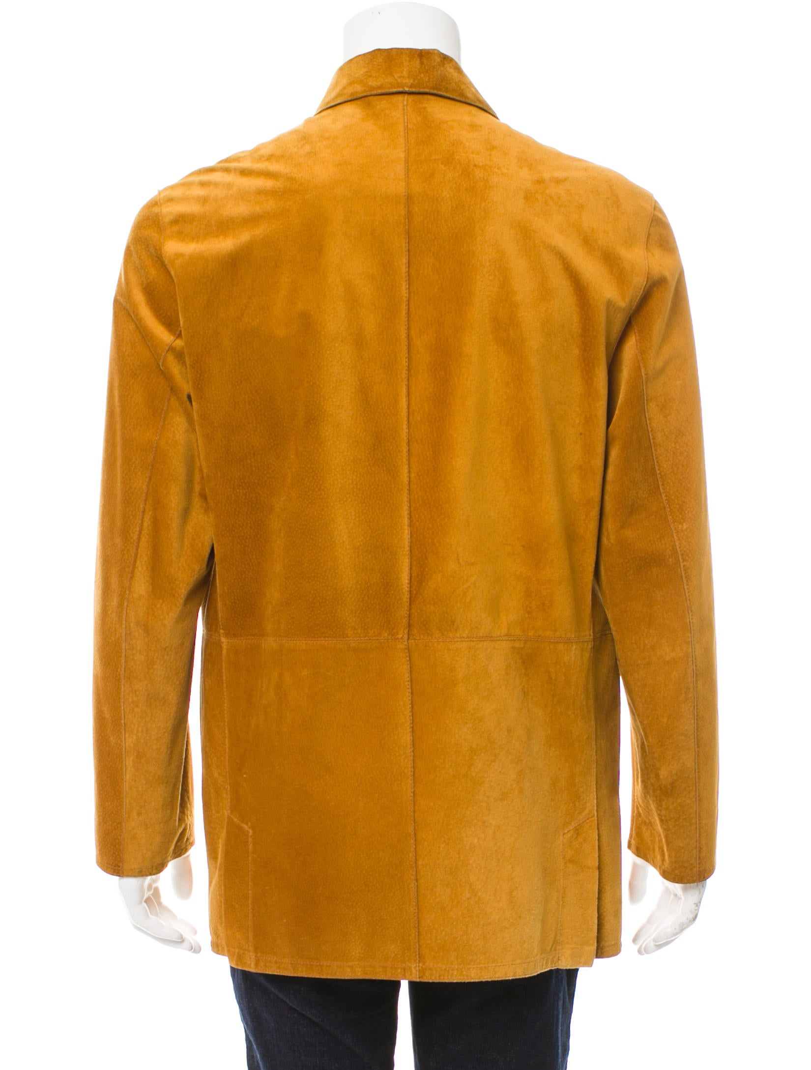 Salvatore Ferragamo Suede Shirt Jacket Clothing