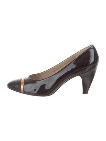 Salvatore Ferragamo Leather Snakeskin-Accented Pumps online cheap quality for sale online store for nice sale online zHkTFb