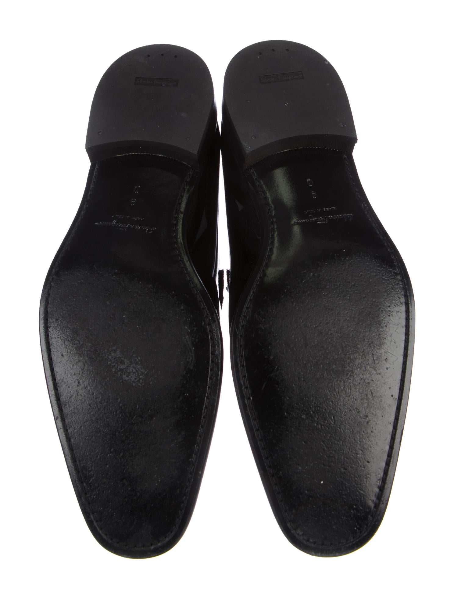 salvatore ferragamo lucky patent leather loafers shoes