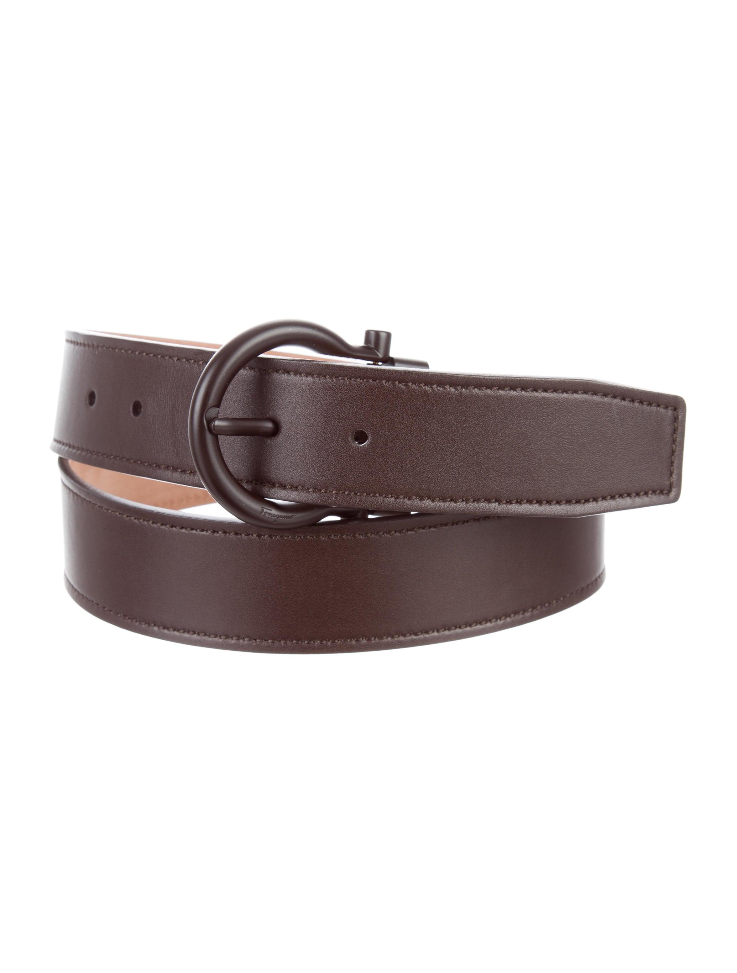 salvatore ferragamo leather gancini belt accessories