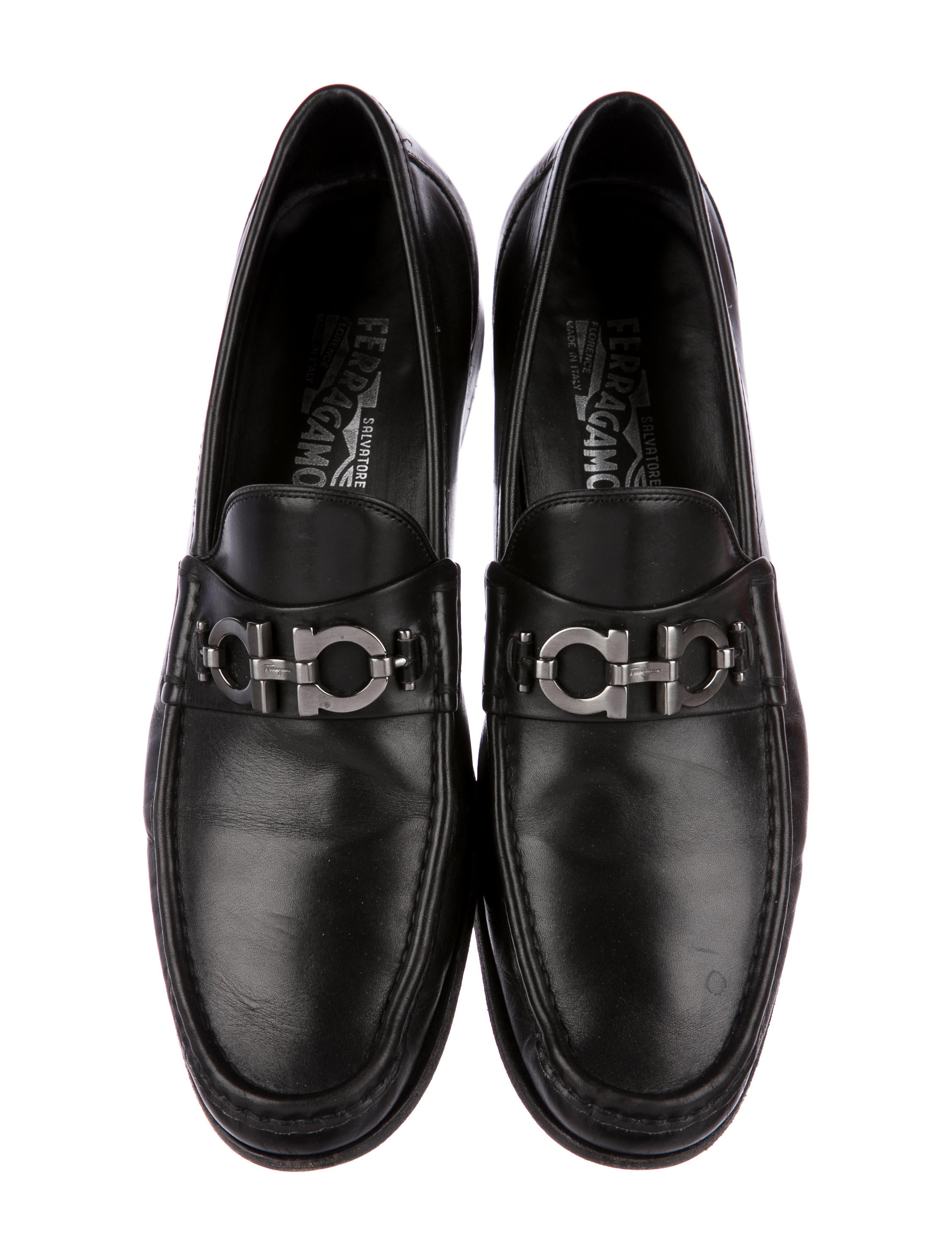 Salvatore Ferragamo Gancini Leather Loafers - Mens Shoes ...