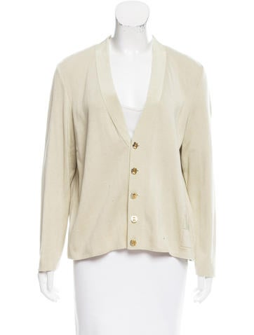 Salvatore Ferragamo Rib Knit V-Neck Cardigan None