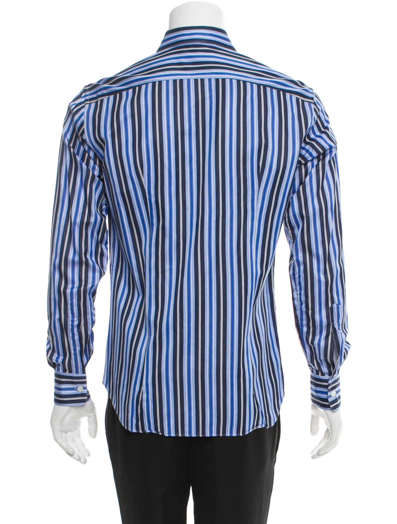 salvatore ferragamo stripe french cuff shirt clothing. Black Bedroom Furniture Sets. Home Design Ideas