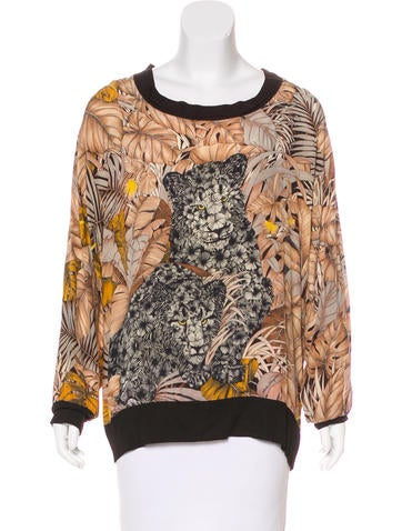 Salvatore Ferragamo Printed Long Sleeve Top None