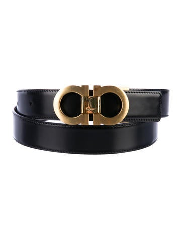 Salvatore Ferragamo Leather Buckle Belt - Accessories ...