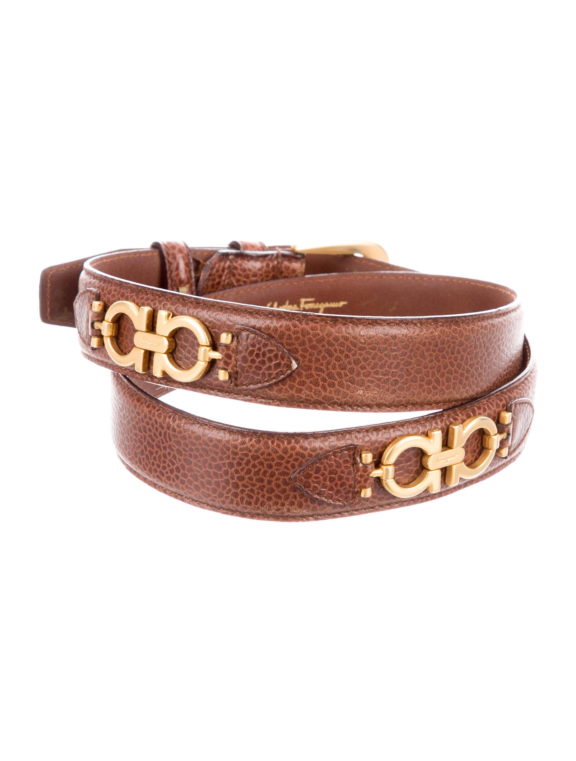 salvatore ferragamo gancini leather belt accessories