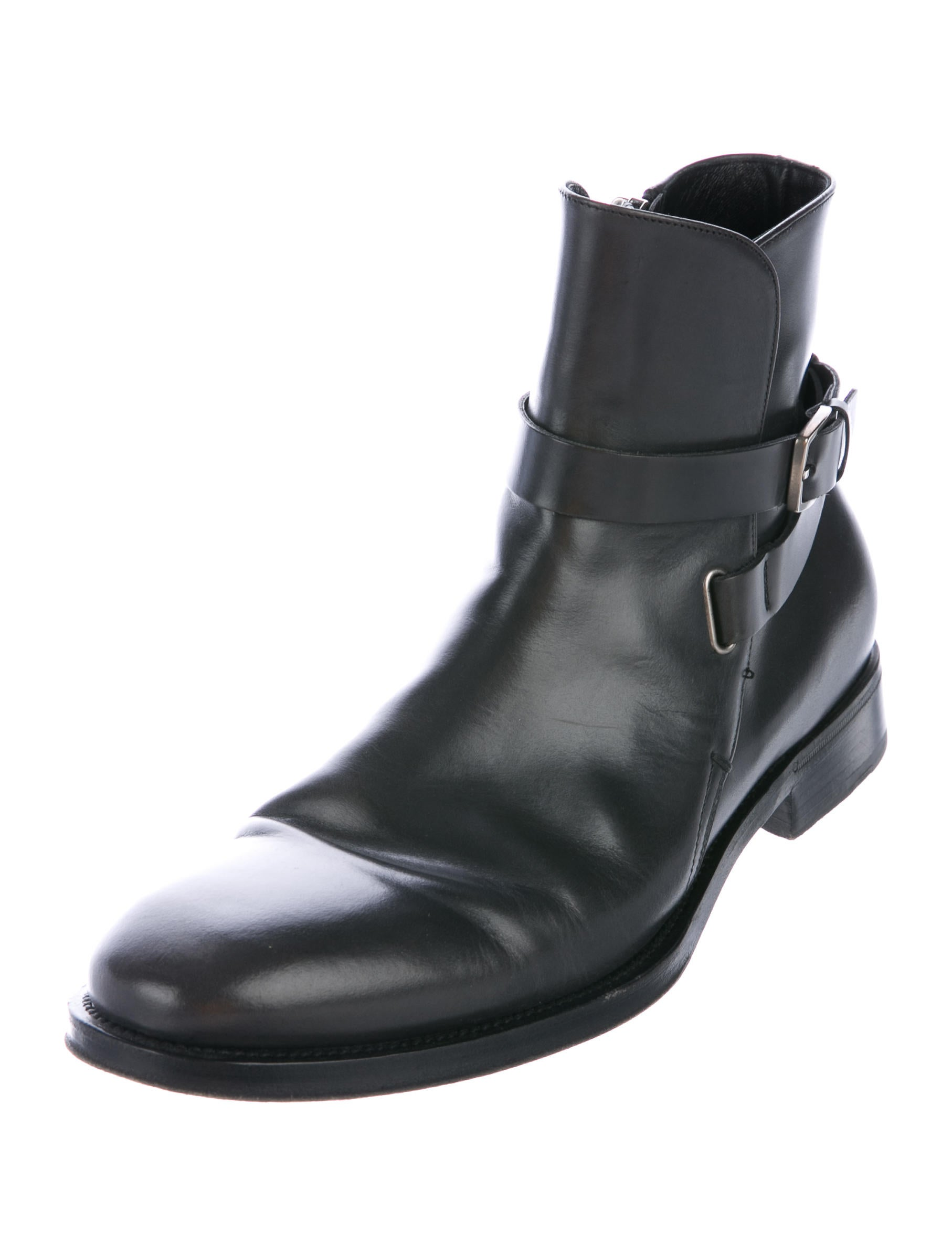 salvatore ferragamo leather ankle boots shoes sal54428