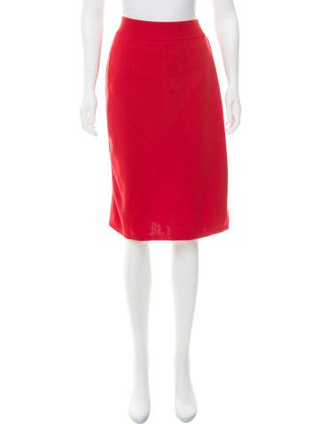 Salvatore Ferragamo Wool Knee-Length Skirt None