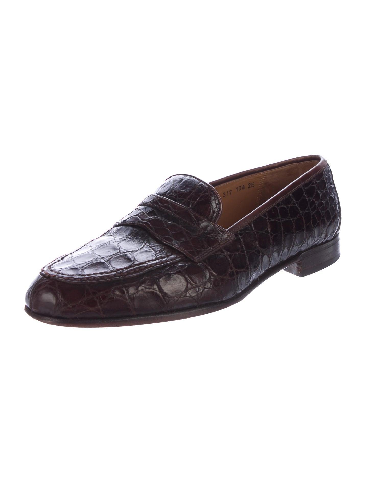 salvatore ferragamo crocodile dress loafers shoes