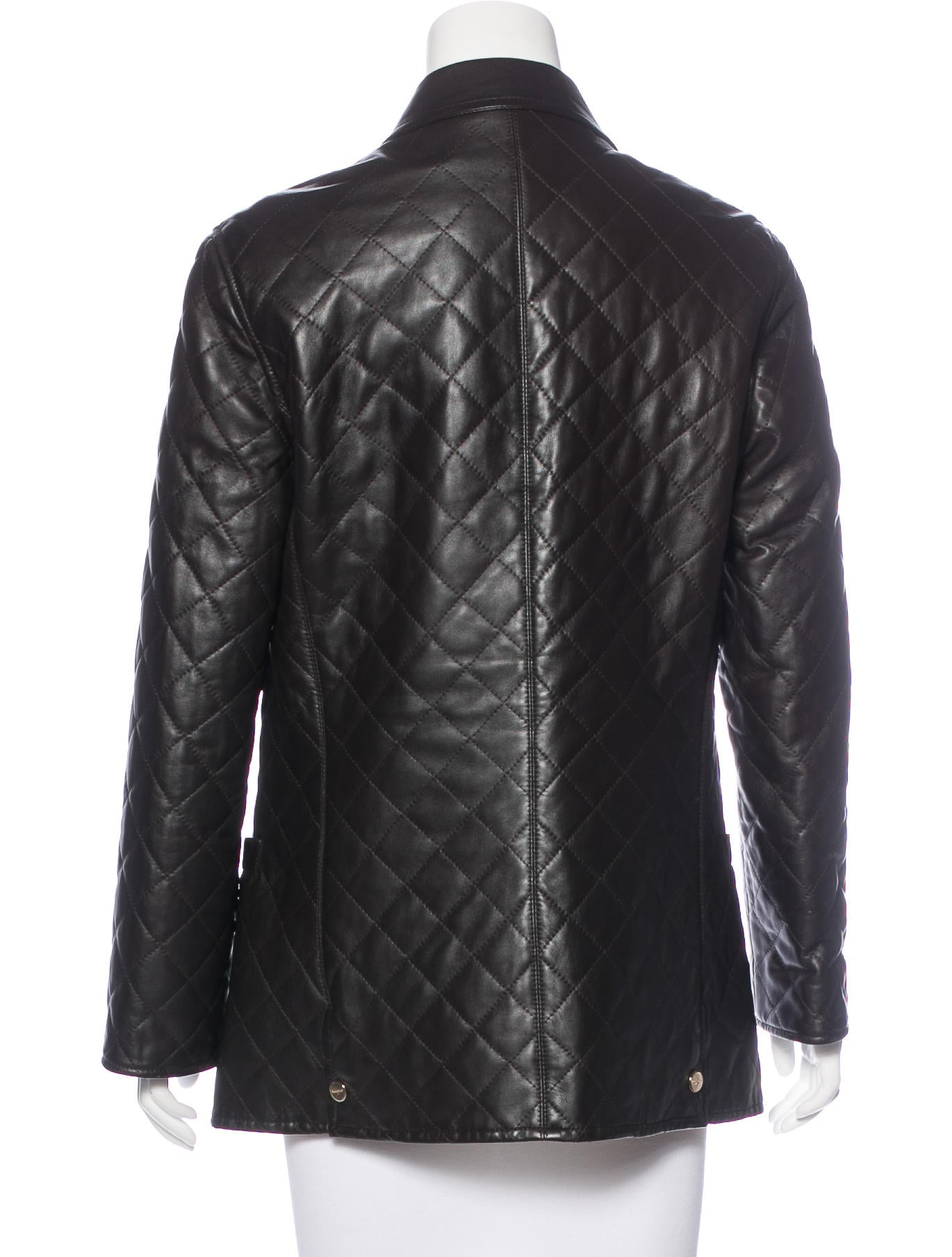 Salvatore Ferragamo Leather Quilted Jacket Clothing