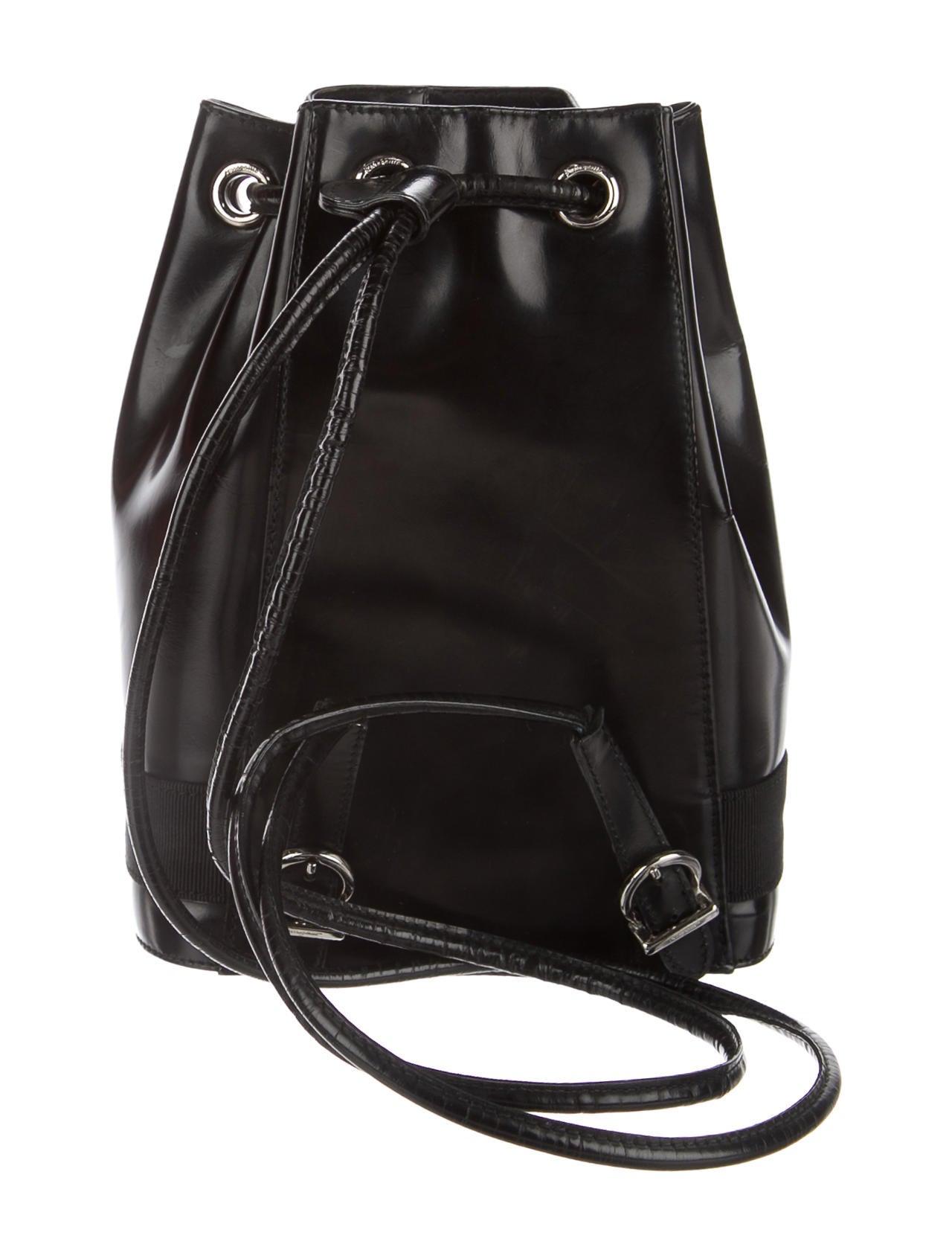 Salvatore Ferragamo Leather Bucket Backpack Handbags