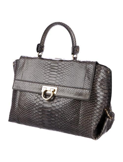 fcf6f5bbab Salvatore Ferragamo Medium Python Sofia Bag - Handbags - SAL56360 ...