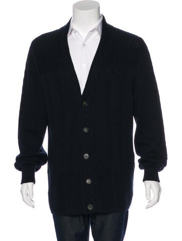 Salvatore Ferragamo Cable Knit Cardigan None
