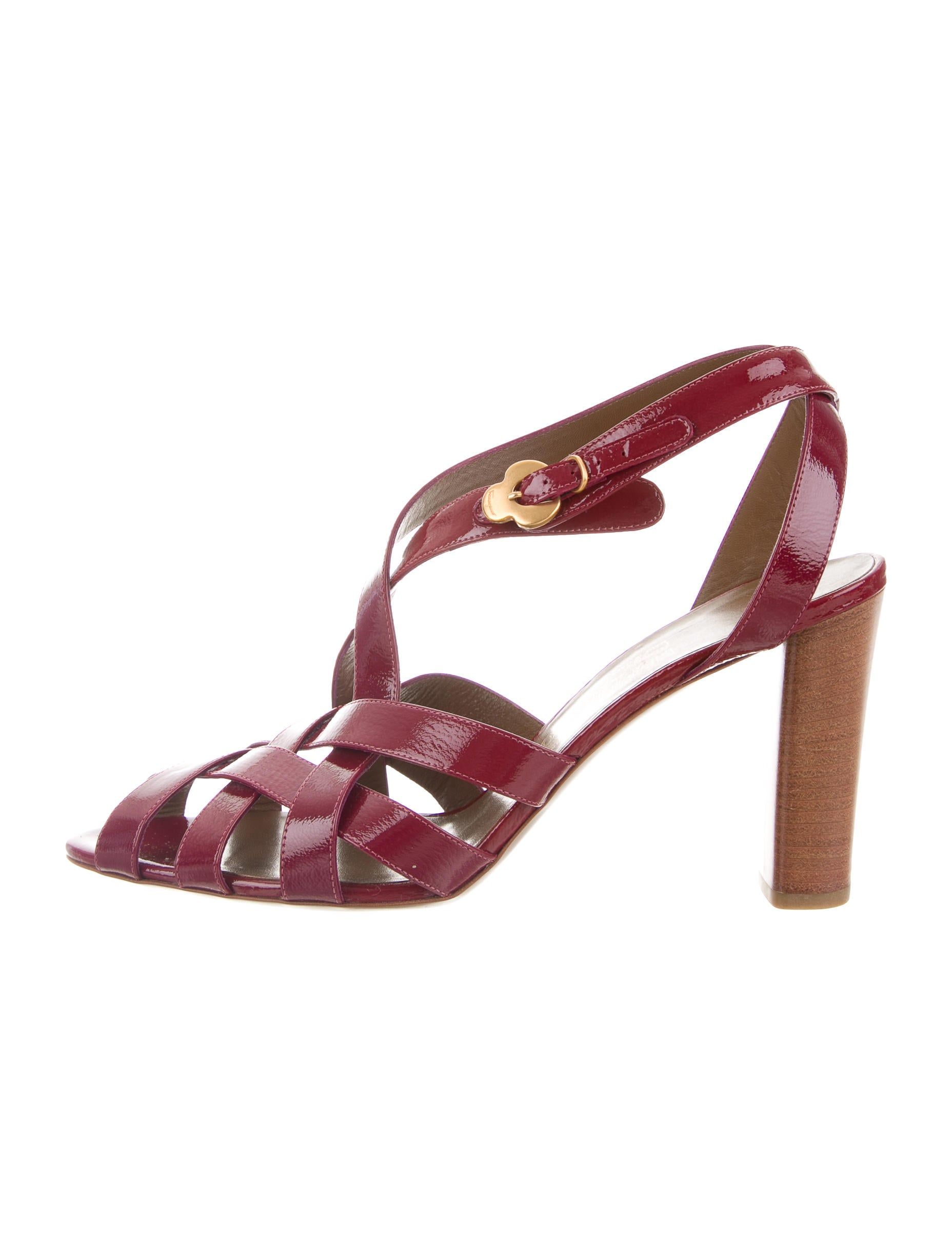 Salvatore Ferragamo Multistrap Leather Sandals