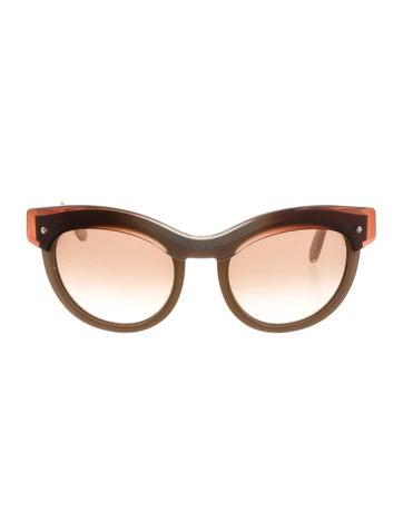 Salvatore Ferragamo Round Tinted Sunglasses None