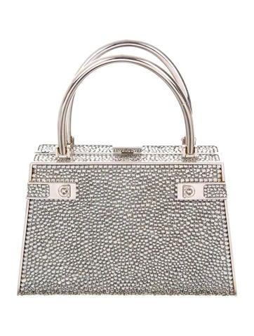 Salvatore Ferragamo Crystal-Embellished Top Handle Bag None