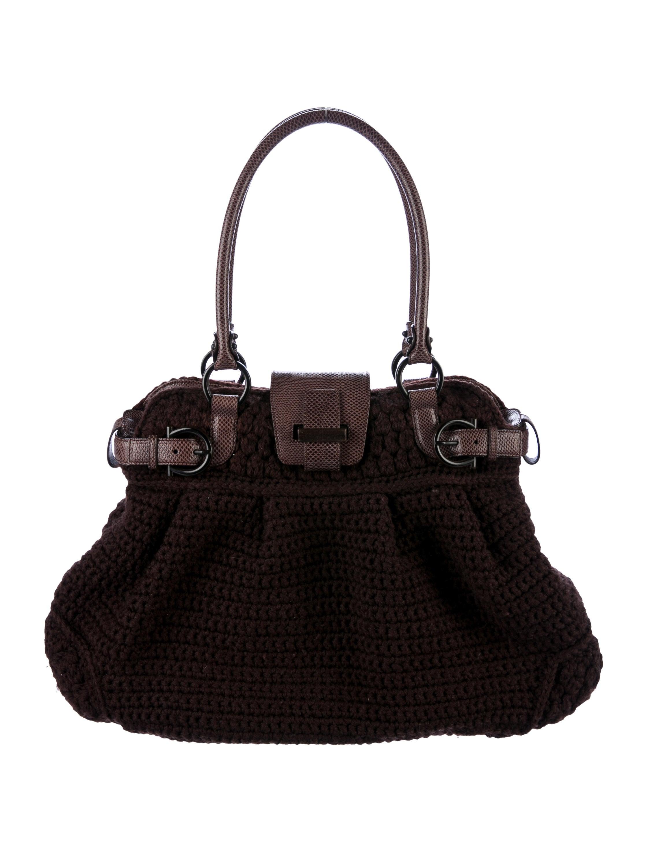 440c89349751 Salvatore Ferragamo Karung-Trimmed Marisa Bag - Handbags - SAL57288 ...