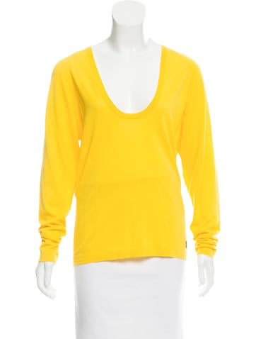 Salvatore Ferragamo Embellished Scoop Neck Sweater None