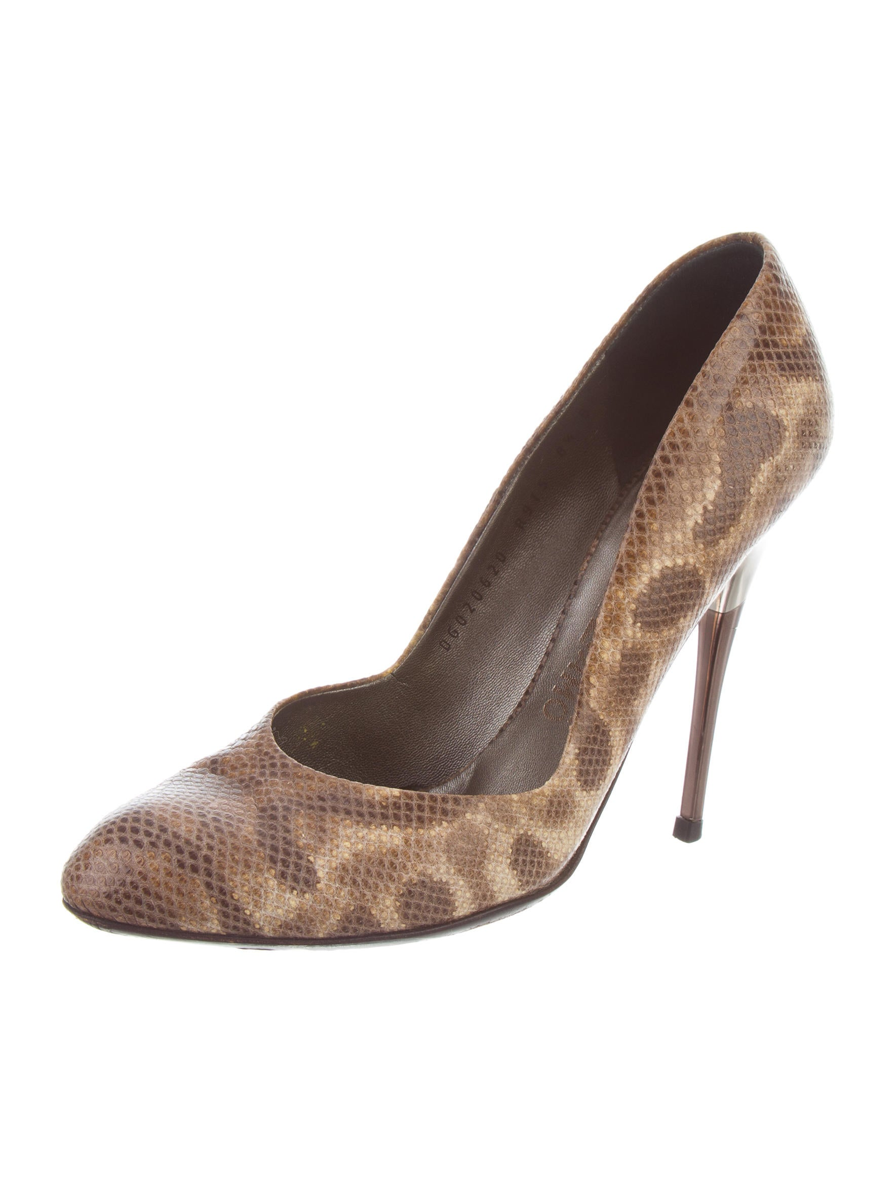 Salvatore Ferragamo Karung Round-Toe Pumps low shipping fee looking for sale online sale latest cheap collections Xzk0KzRxCj