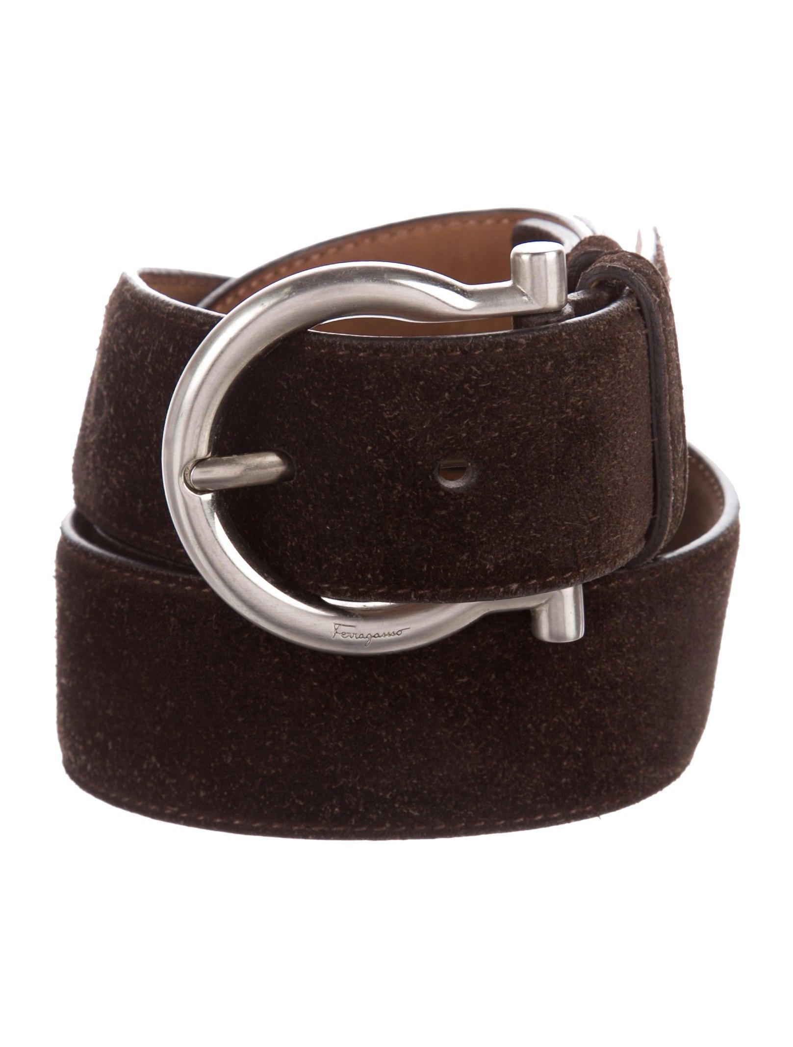 dde86897c4b Salvatore Ferragamo Suede Buckle Belt - Accessories - SAL57902 | The ...