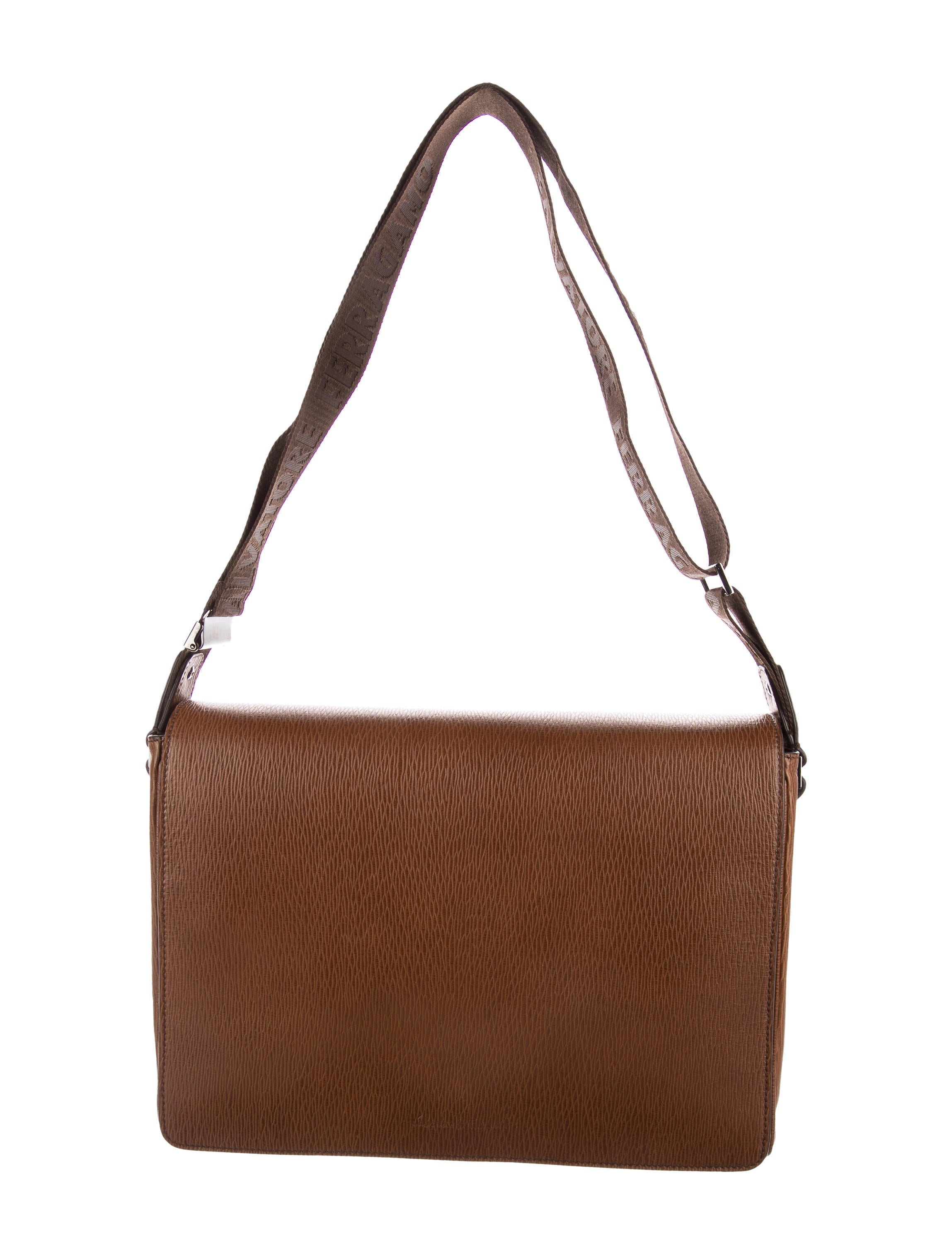 Salvatore Ferragamo Grain Leather Messenger - Bags - SAL58306  91b086c1cd05f