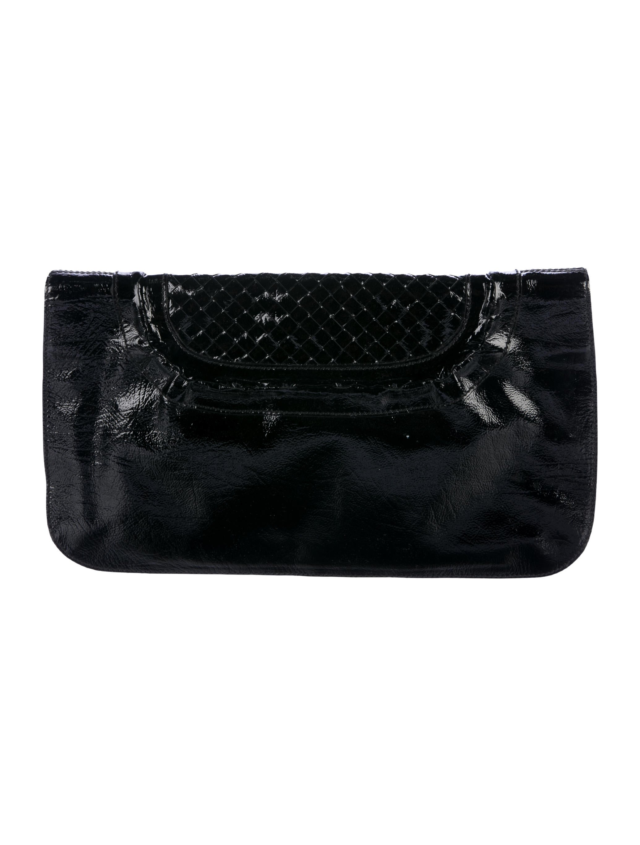 Salvatore Ferragamo Salvador Ferragamo Patent-leather Clutch/ Shoulder Bag JuQOLzTv