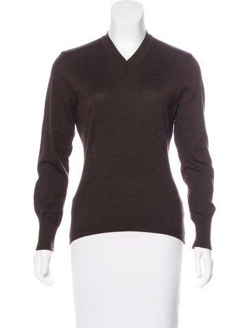 Salvatore Ferragamo Virgin Wool V-Neck Sweater None