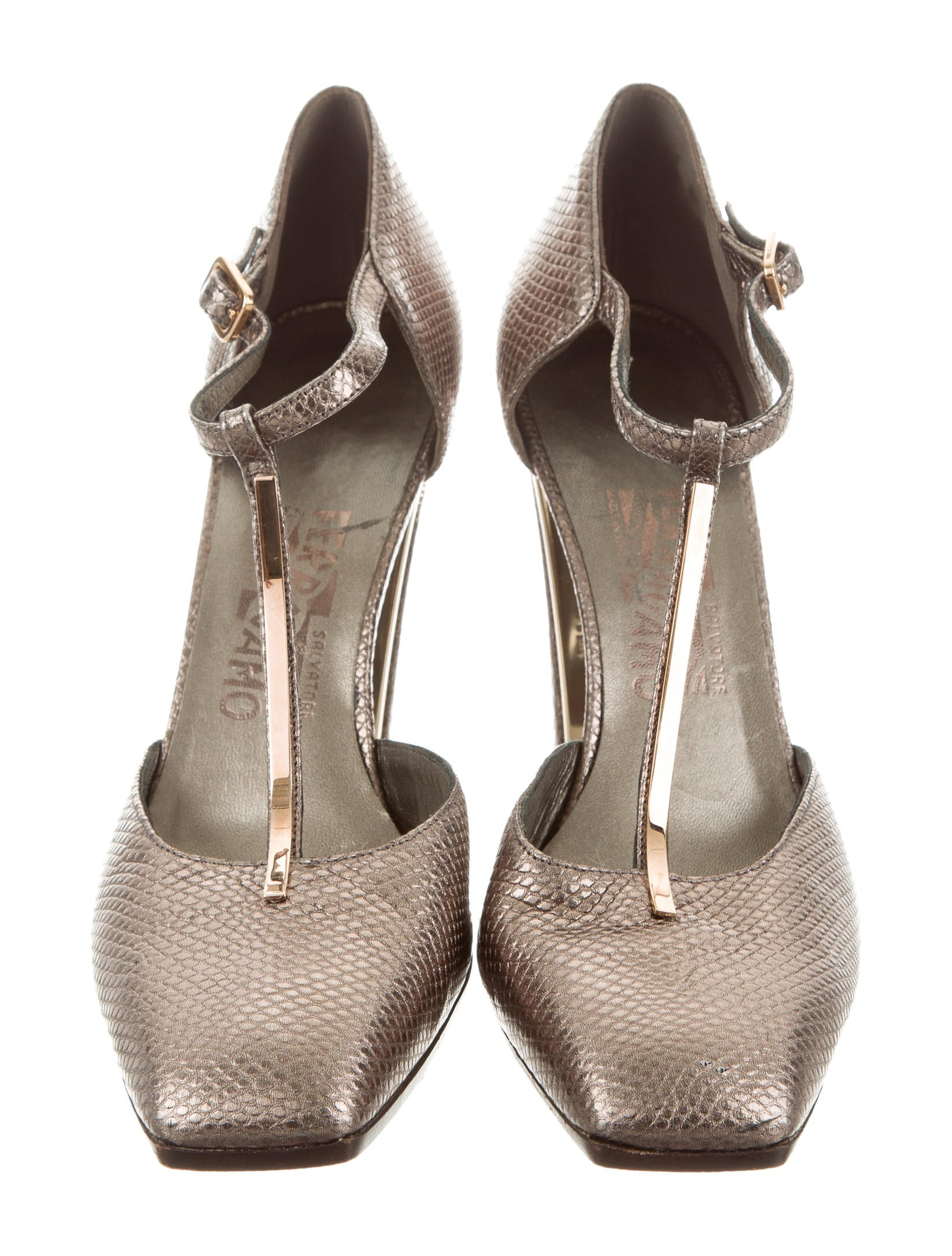 discount for cheap Salvatore Ferragamo Embossed Square-Toe Pumps Inexpensive cheap price cheap pre order Bkmp2M3